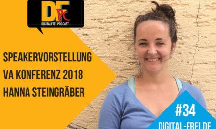 DFP #34 mit Hanna Steingräber. Speakervorstellung für die VAK18