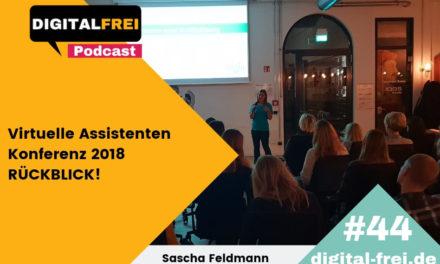 DFP #44 – Rückblick auf die Virtuelle Assistenten Konferenz in Hamburg!