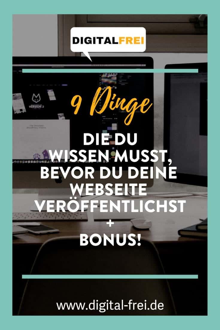 9 Dinge, die du wissen musst, bevor du deine Webseite veröffentlichst + Bonus!