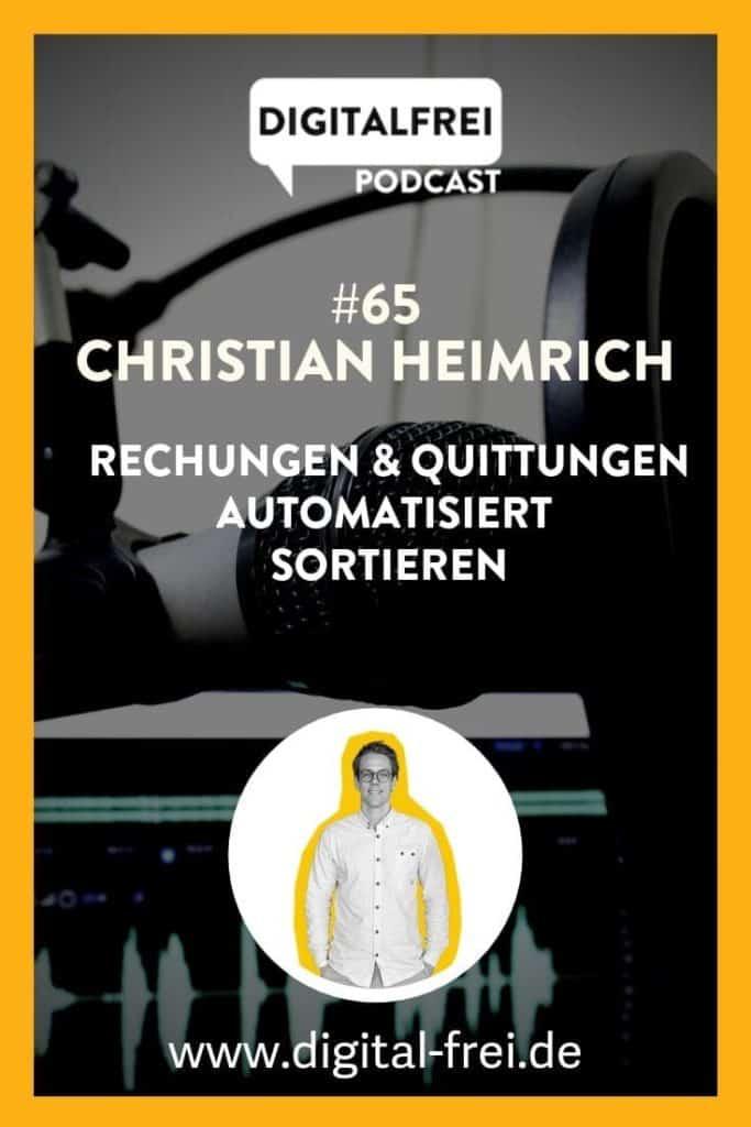 Christian Heimrich von GETMYINVOICES.COM im Digitalfrei Podcast