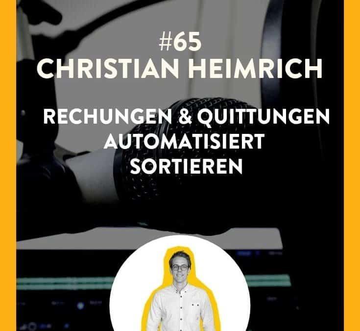 #65 – Christian Heimrich von GETMYINVOICES.COM  – Rechnungen sortieren leicht gemacht