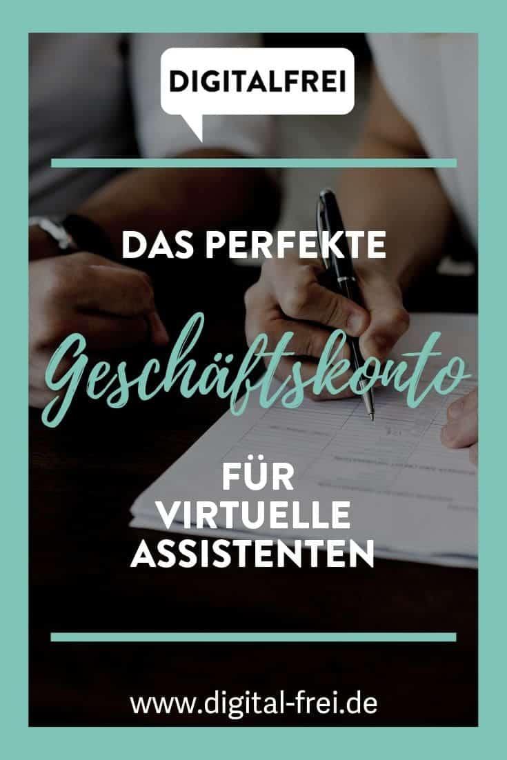 Das perfekte Geschäftskonto für Virtuelle Assistenten