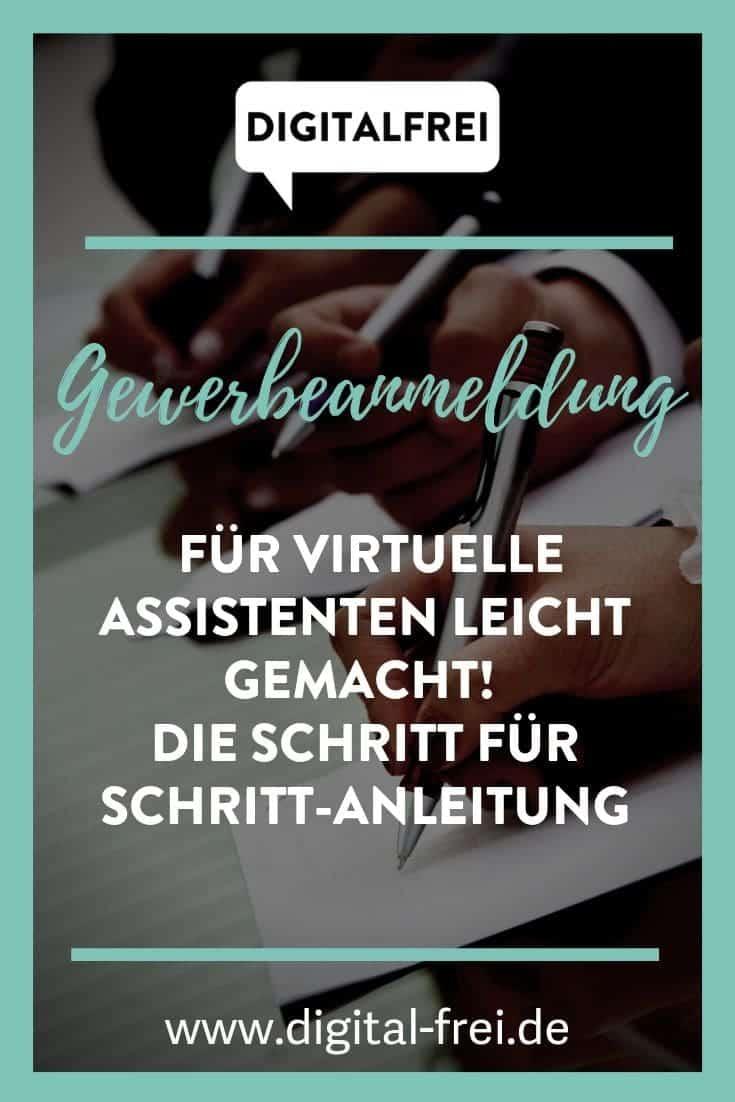 Gewerbeanmeldung für Virtuelle Assistenten Schrit für Schritt Anleitung