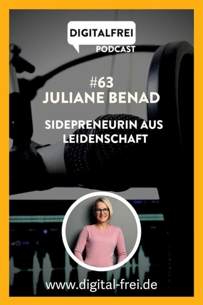 JULIANE BENAD von sidepreneur.de im Digitalfrei Podcast