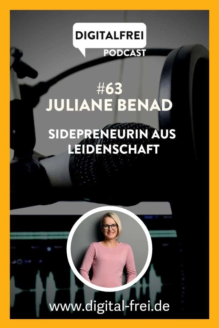JULIANE BENAD von sidepreneur.de im Digitalfrei Podcast