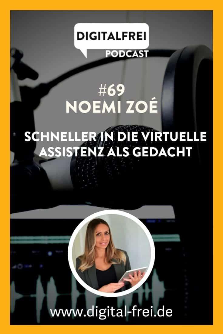 Noemi Zoé im Digitalfrei Podcast mit Sascha Feldmann zum Thema Virtuelle Assistenz