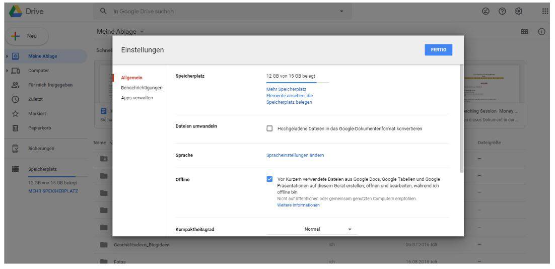 Offline arbeiten Google Tabellen Digitalfrei
