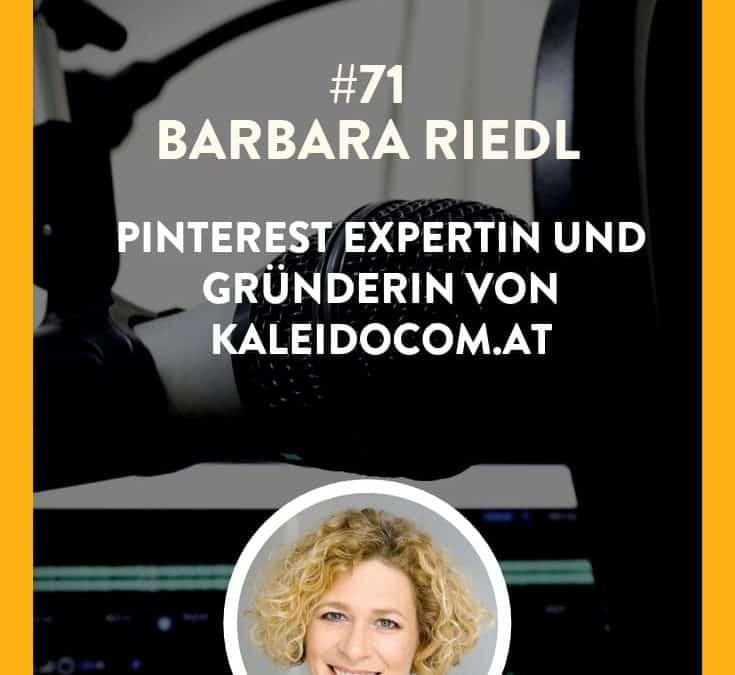 #71 – Barbara Riedl – Pinterest Expertin und Gründerin von kaleidocom.at