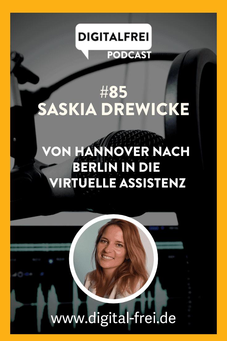 Saskia Drewicke im Digitalfrei Podcast mit Sascha Feldmann